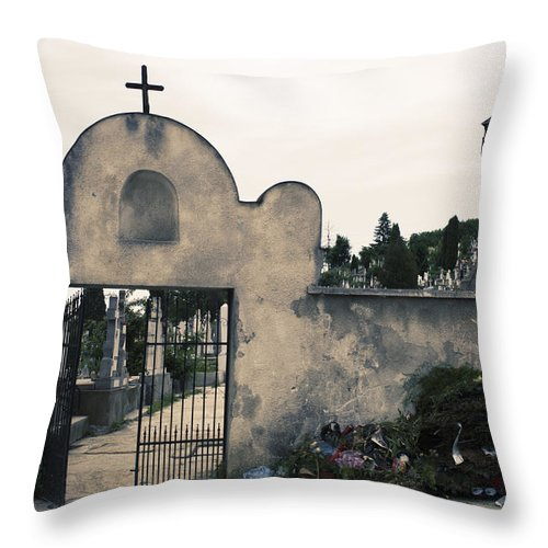 Graveyard Throw Pillow featuring the photograph Time by Dan Lavric