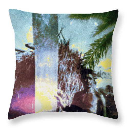 Tropical Interior Design Throw Pillow featuring the photograph Time Surfer by Kenneth Grzesik