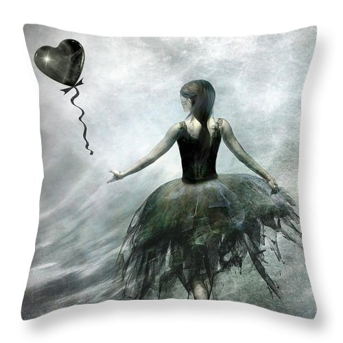 Ballet Throw Pillow featuring the painting Time To Let Go by Jacky Gerritsen