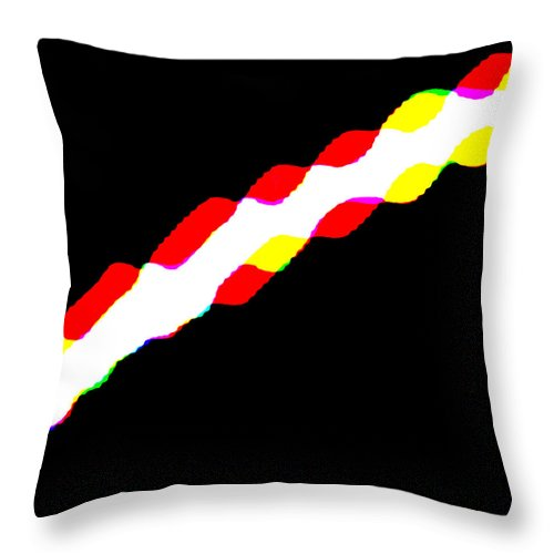 Square Throw Pillow featuring the digital art Time Tunnel by Eikoni Images