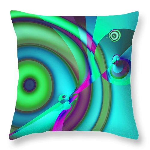 Abstract Throw Pillow featuring the digital art Time Warp by Frederic Durville