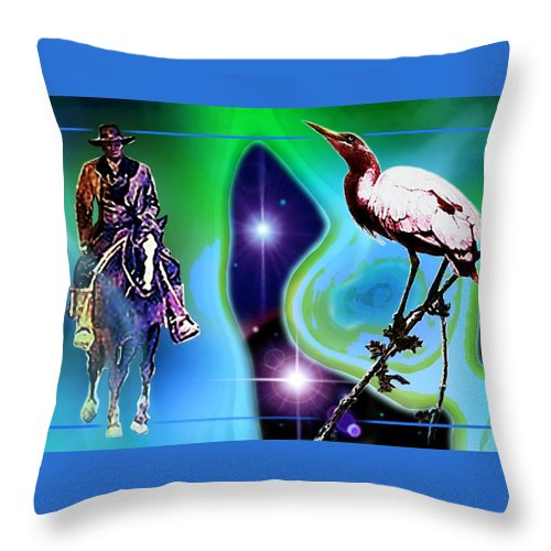Time Throw Pillow featuring the painting Time Warp by Hartmut Jager