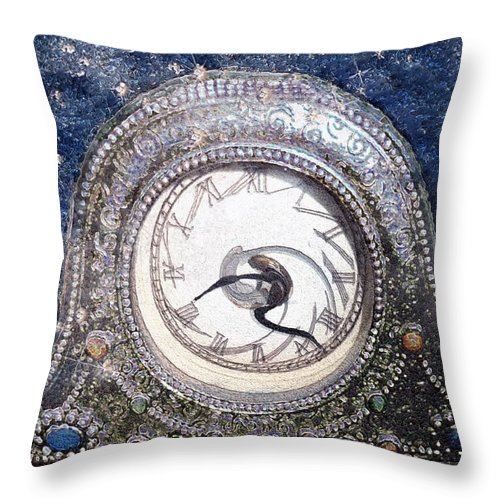 Clock Throw Pillow featuring the painting Time Warp by RC DeWinter
