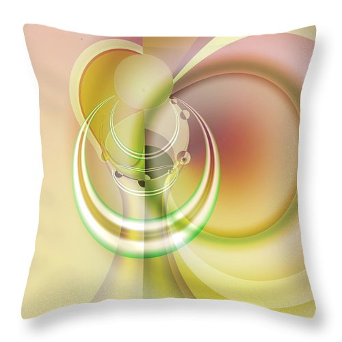 Fractal Throw Pillow featuring the digital art Time Warp Revisited by Frederic Durville