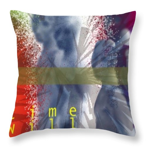 Afterlife Dream Surreal People Throw Pillow featuring the digital art Time Will Tell by Veronica Jackson