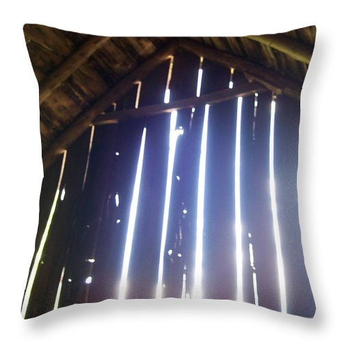 Barn Old Country Sunlight Rustic Farm Throw Pillow featuring the photograph Time Worn by Anna Villarreal Garbis