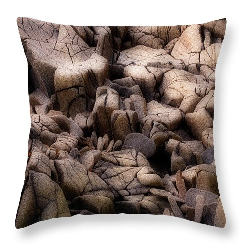 Rocks Throw Pillow featuring the photograph Time Worn by Linda McRae