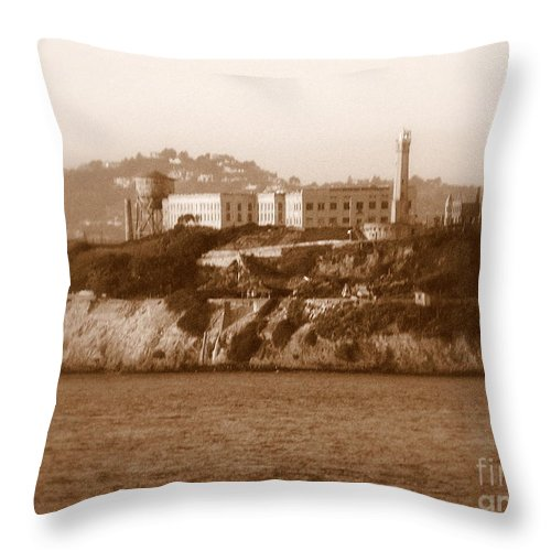 San Francisco Throw Pillow featuring the photograph Timeless Alcatraz by Carol Groenen