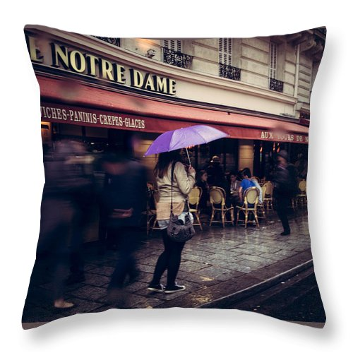 Paris Throw Pillow featuring the photograph Timeless by Andrea Letzner