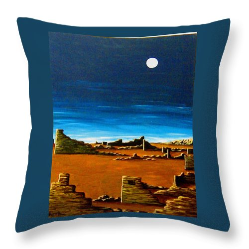 Anasazi Throw Pillow featuring the painting Timeless by Diana Dearen