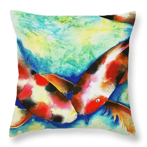 Nature Throw Pillow featuring the painting Timeless Love by Frances Ku