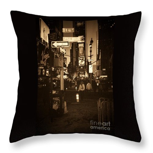 New York Throw Pillow featuring the photograph Times Square by Debbi Granruth