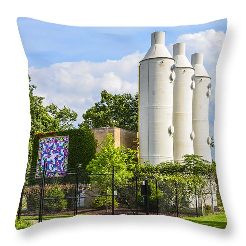 Oz Throw Pillow featuring the photograph Tin Man With Heart by Douglas Neumann