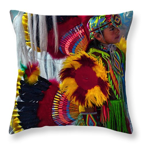 First Nations Throw Pillow featuring the photograph Tiny Dancer # 999 by Ed Hall