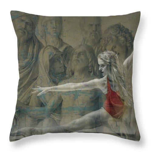 Elton John Throw Pillow featuring the digital art Tiny Dancer by Paul Lovering