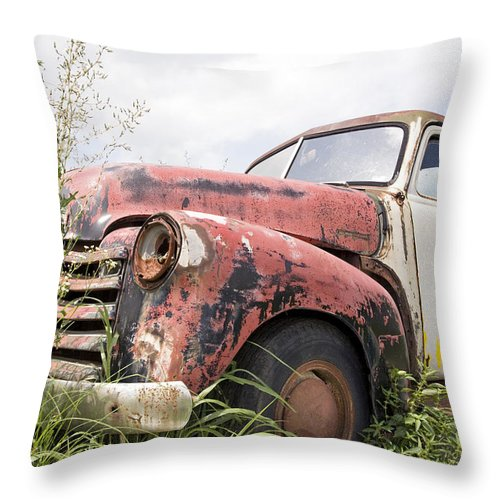 Old Throw Pillow featuring the painting Tired by Glennis Siverson