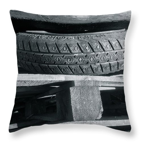 Tires Throw Pillow featuring the photograph Tires by Julian Grant