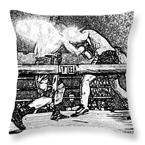 Boxing Throw Pillow featuring the photograph Titans Of The Ring by David Lee Thompson