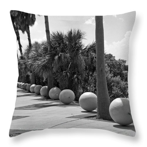 Florida; Titusville; Space; Coast; Astronauts; Astronaut; Cape; Canaveral; Mercury; Project; Freedom Throw Pillow featuring the photograph Titusville On The Indian River Lagoon In Florida by Allan Hughes