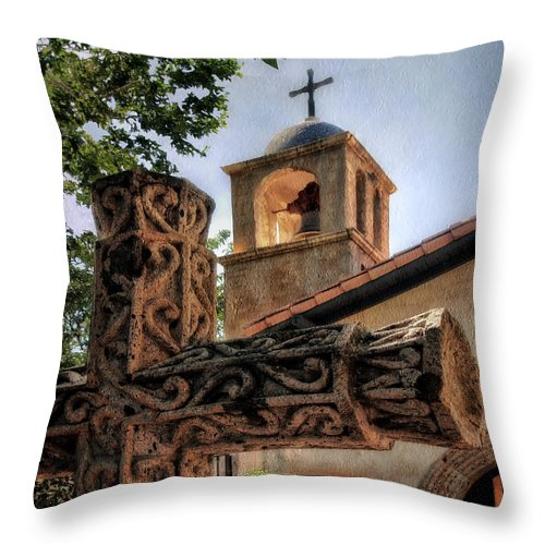Tlaquepaque Throw Pillow featuring the photograph Tlaquepaque Chapel by Jim Hill