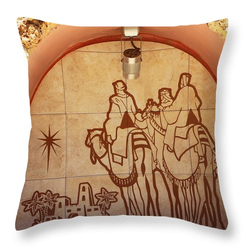 Village Throw Pillow featuring the photograph To Bethlehem by Munir Alawi