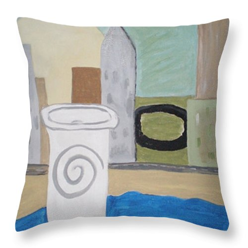 To Go Throw Pillow featuring the painting To Go by Beth Cornell
