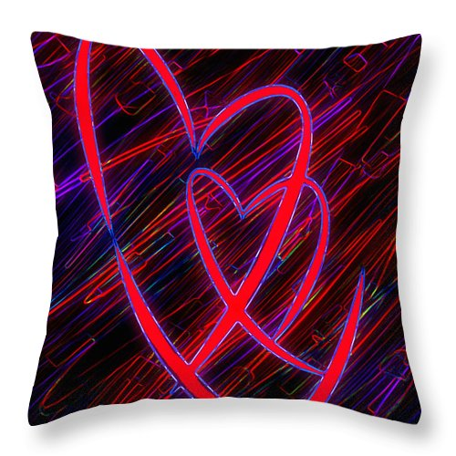 Heart Throw Pillow featuring the digital art To Have And To Hold by Kenneth Krolikowski