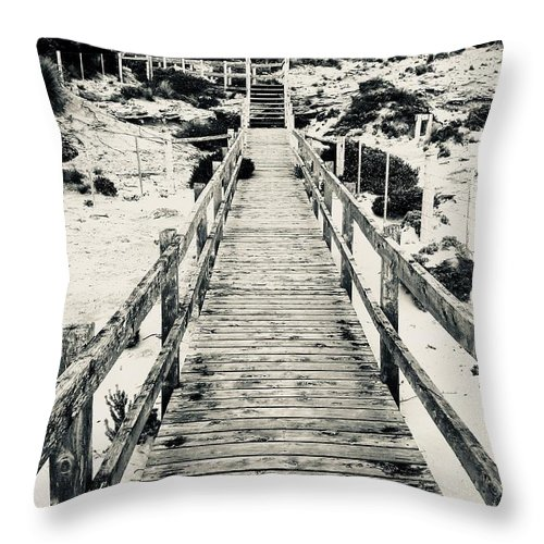 Seascape Throw Pillow featuring the photograph To Heaven  by Luap Thgirwtrac