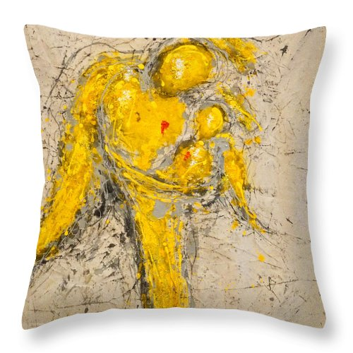 Madonna And Child Throw Pillow featuring the painting To See Is To Love And To Love Is To Live by Giorgio Tuscani