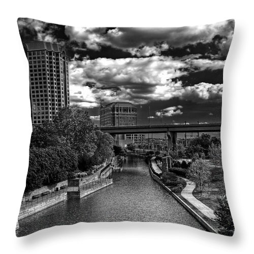 Water Throw Pillow featuring the photograph To The East Flows The Water by Tim Wilson