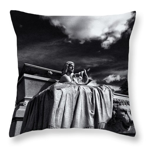 Cemetery Throw Pillow featuring the photograph To The Heavens by Scott Wyatt