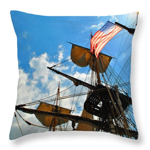 Herminoe Throw Pillow featuring the photograph To The Maritime Sky by Jost Houk