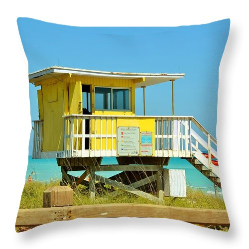 Miami Beach Throw Pillow featuring the photograph To The Rescue 11 by Rene Triay Photography
