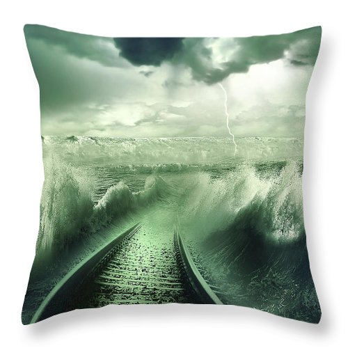 Aqua Throw Pillow featuring the photograph To The Sea by Svetlana Sewell