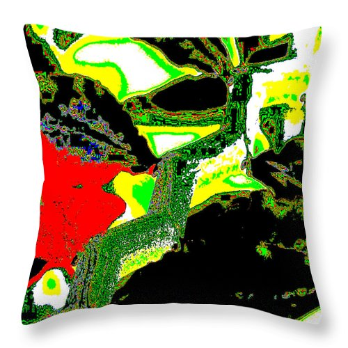 Square Throw Pillow featuring the digital art To Them It Was Perfectly Ordinary by Eikoni Images