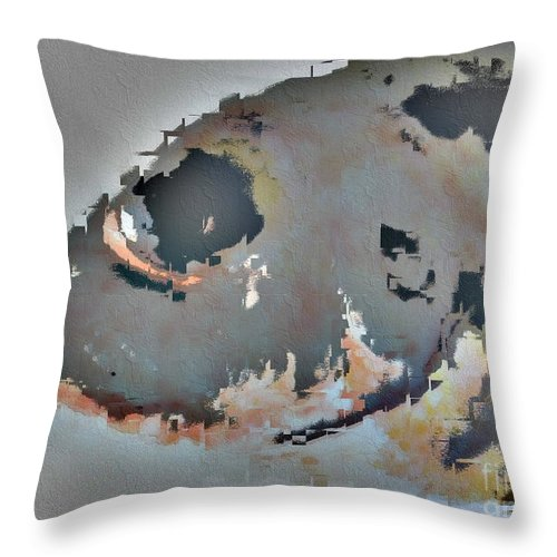 Fish Throw Pillow featuring the photograph Toau Abstract by Dorlea Ho