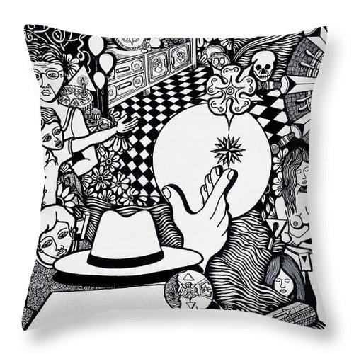 Drawing Throw Pillow featuring the drawing Today I No More Have Birthdays by Jose Alberto Gomes Pereira