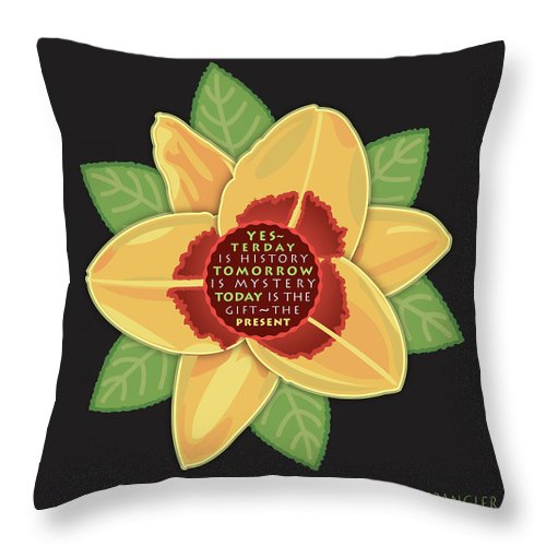 Living Room Throw Pillow featuring the digital art Today, The Gift by Susan Spangler