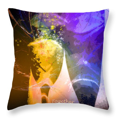 Fantasy Throw Pillow featuring the photograph Together Again by Miki De Goodaboom