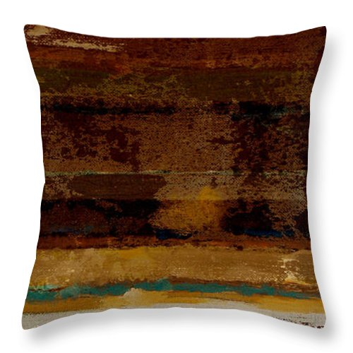 Abstract Throw Pillow featuring the painting Togetherness II by Ruth Palmer