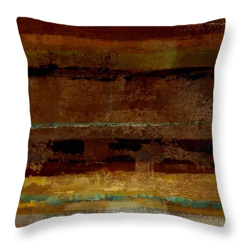 Abstract Throw Pillow featuring the painting Togetherness by Ruth Palmer
