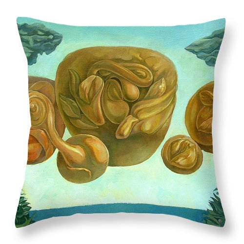 Surreal Throw Pillow featuring the painting Tohu Vavohu by Filip Mihail