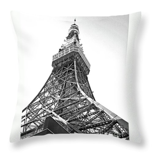 Tokyo Tower Throw Pillow featuring the photograph Tokyo Tower by Marie Loh
