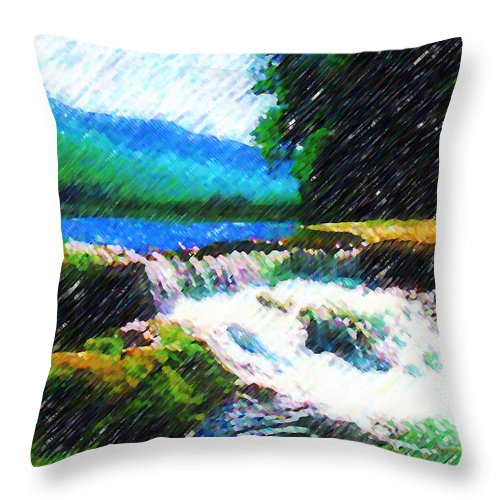 Landscape Throw Pillow featuring the photograph Tolhuaca by Madalena Lobao-Tello