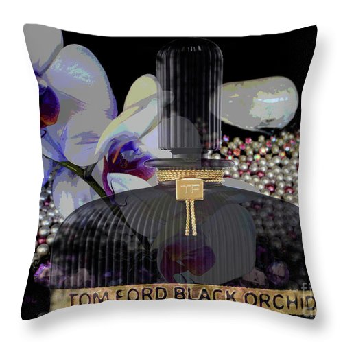 Tom Ford Black Orchid Throw Pillow featuring the digital art Tom Ford Black Orchid by To-Tam Gerwe