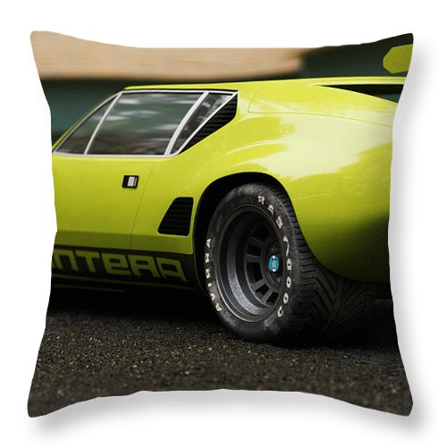 Car Throw Pillow featuring the digital art Tomaso - Pantera 3 - Cgi -71 by Ricardo Mota
