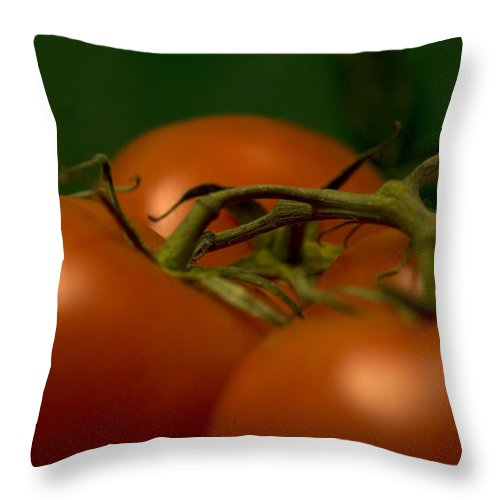Tomatoes Throw Pillow featuring the photograph Tomatoes by Jessica Wakefield