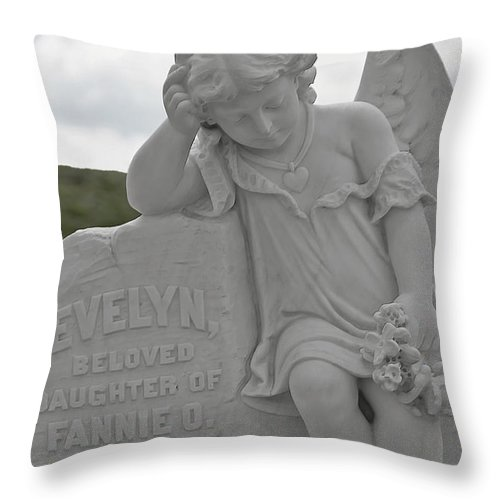 Bodie Throw Pillow featuring the photograph Tombstone Angel For An Angel by Christine Till