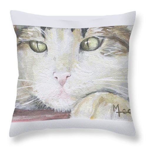 Charity Throw Pillow featuring the painting Tommy by Mary-Lee Sanders