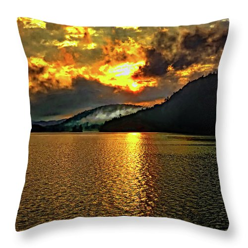Landscape Throw Pillow featuring the photograph Tomorrow's Adventure by Steve Harrington